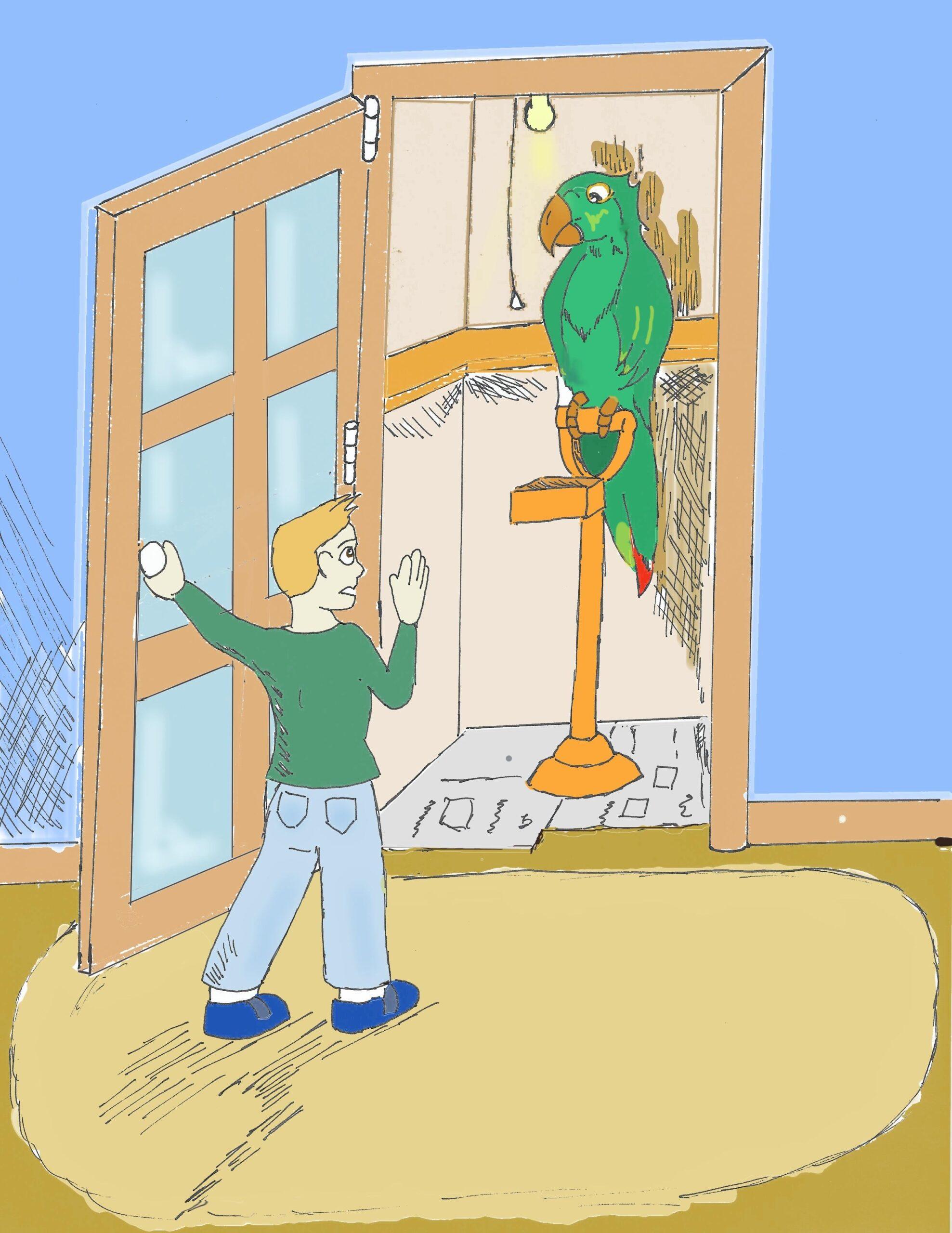 Kid with a bird